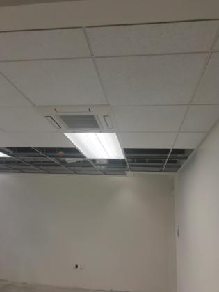 Ceiling Tiles and Fixtures at Sub Floor Installation