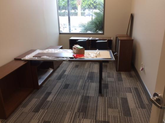 ISMH BOH Carpet and Furniture Install