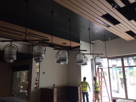 ISMH Light Fixtures at Restaurant