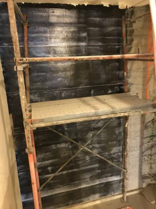 4th floor stairwell fiber Wrap