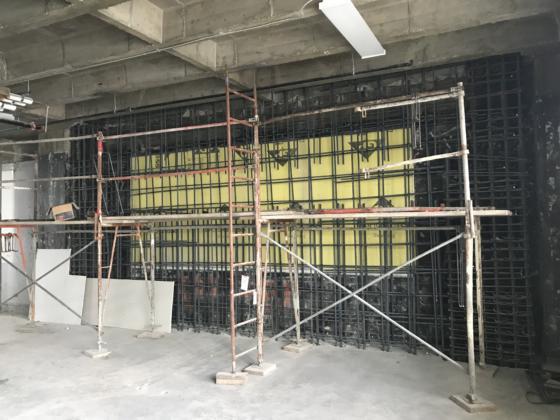 3rd Floor Shotcrete rebar