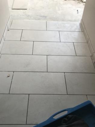 Tile Installation at guestroom entrance