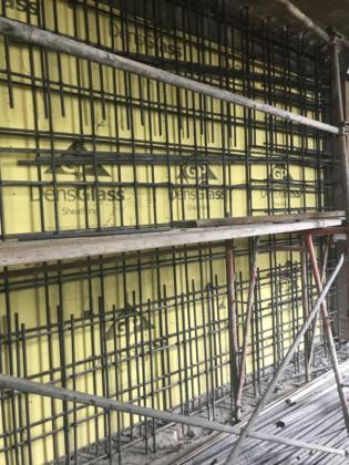 4th floor Elevator shaft rebar