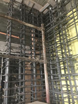 4th floor elevator shaft rebar #2