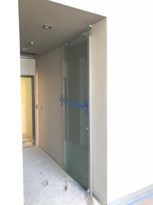 8th Floor Guestroom barn door install